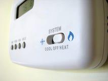 Commutateur frais de la chaleur de thermostat image libre de droits