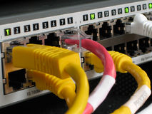 Commutateur industriel d'Ethernet de réseau Image stock
