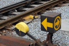 Commutateur le chemin de fer photo stock