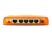 Commutateur orange Photographie stock libre de droits
