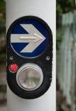 Commutateur piétonnier de feux de signalisation de promenade Photos libres de droits