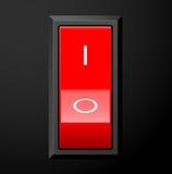 Commutateur rouge Image libre de droits