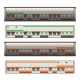 Commutateurs électriques réglés illustration de vecteur
