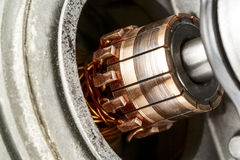 Commutator shown up close Royalty Free Stock Image