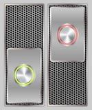 Commutatore del bottone del metallo Immagine Stock Libera da Diritti