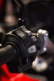 Commutatore del pannello di controllo del motociclo Fotografia Stock
