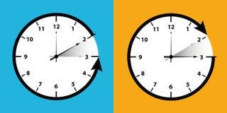 Commutatore dell'orologio ad orario invernale royalty illustrazione gratis