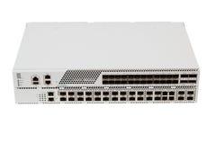 Commutatore di Ethernet di gigabit con la scanalatura di SFP Immagini Stock