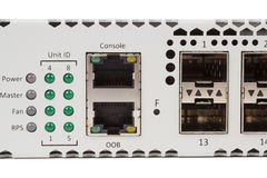 Commutatore di Ethernet di gigabit con la scanalatura di SFP Fotografie Stock Libere da Diritti