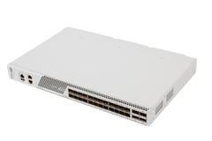 Commutatore di Ethernet di gigabit con la scanalatura di SFP Fotografia Stock Libera da Diritti