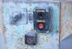 Commutatore elettrico di vecchi periodi sovietici immagini stock libere da diritti