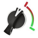 Commutatore rotante su bianco Fotografia Stock Libera da Diritti