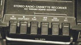 Commutatori di vecchio registratore radiofonico A Fotografia Stock Libera da Diritti