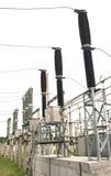 commutatori Gas-isolati sottostazione di alta tensione di 110 chilowatt Fotografie Stock Libere da Diritti
