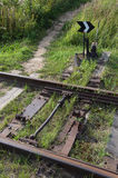 Commutazione della ferrovia del dispositivo sulla vecchia ferrovia Fotografia Stock