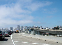 Daily Commute. Into the city, heavy traffic, traffic jam royalty free stock photography