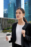 Commute asian business woman Stock Photography