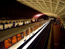 Commute by Train. Subway station in Virginia leaving to Washington D.C Stock Images