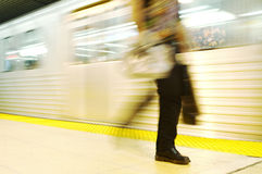 Commuter. Subway commuter walking Royalty Free Stock Images