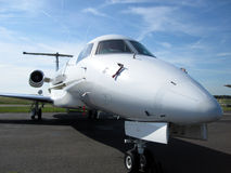 Commuter Aircraft close up Stock Photo