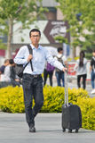Commuter in Beijing downtown, China Royalty Free Stock Images