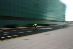 Commuter on Bike Royalty Free Stock Photos