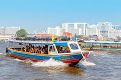 Commuter Boat in Bangkok, Thailand Royalty Free Stock Images