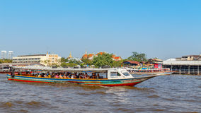 Commuter Boat in Bangkok, Thailand Stock Photos