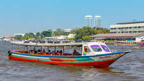 Commuter Boat in Bangkok, Thailand Stock Photo