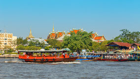 Commuter Boat in Bangkok, Thailand Royalty Free Stock Image