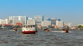 Commuter Boat in Bangkok, Thailand Stock Photo