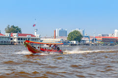 Commuter Boat in Bangkok, Thailand Stock Images