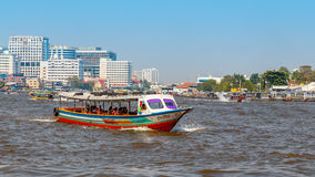 Commuter Boat in Bangkok, Thailand Royalty Free Stock Photo