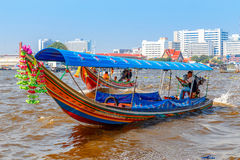 Commuter Boat in Bangkok, Thailand Stock Photos