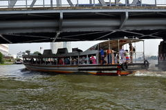 Commuter Boat, Rush Hour, Bangkok, Thailand Stock Image