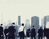 Commuter Buiness People Corporate Cityscape Walking Concept Royalty Free Stock Image