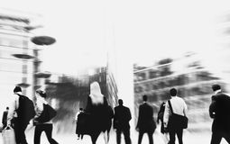 Commuter Buiness People Corporate Cityscape Walking Concept Royalty Free Stock Images
