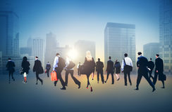 Commuter Buiness People Corporate Cityscape Walking Concept Royalty Free Stock Photo