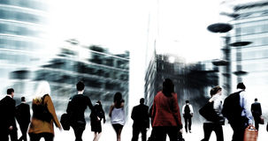 Commuter Buiness People Corporate Cityscape Walking Travel Conce Royalty Free Stock Image