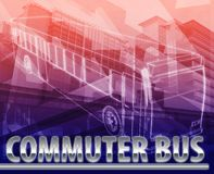 Commuter bus Abstract concept digital illustration Stock Image