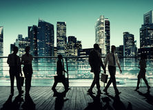 Commuter Business City Cityscape Corporate Colleagues Concept Stock Image