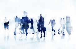 Commuter Business People Cityscape Corporate Travel Concept.  Royalty Free Stock Images