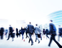Commuter Business People Cityscape Corporate Walking Concept Royalty Free Stock Photography
