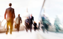 Commuter Business People Commuter Crowd Walking Cathedral Concep Stock Image