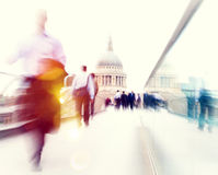 Commuter Business People Commuter Crowd Walking Cathedral Concep Royalty Free Stock Photo