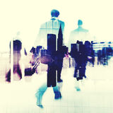 Commuter Business People Commuter Crowd Walking Concept Royalty Free Stock Photo