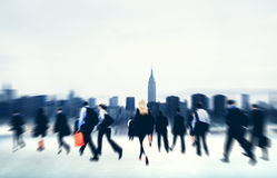 Commuter Business People Corporate Cityscape Walking Travel Conce Stock Photos