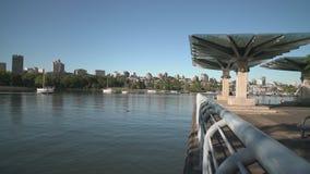 Commuter Ferry, False Creek, Vancouver 4K. UHD stock video footage