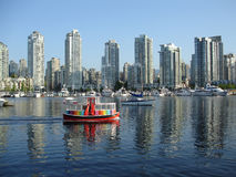 Commuter Ferry Past Yaletown, Vancouver Royalty Free Stock Photos