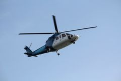 Commuter Helicopter Landing royalty free stock photo